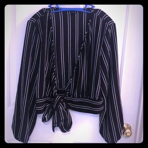 Tops - Black and white dress jacket